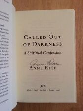 SIGNED - Anne Rice Called Out of Darkness Hardcover 1st Print + Pic