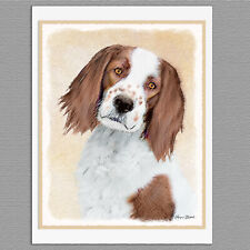 6 Irish Red and White Setter Dog Blank Art Note Greeting Cards