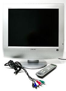 "Sony WEGA 20"" INCH KLV-S20G10 LCD TV Retro Gaming TV + Remote + Sound Bar"