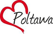 """AUTO Adesivo """"Poltawa"""" sticker città ucraina circa 9x14cm contorno tagliati"""