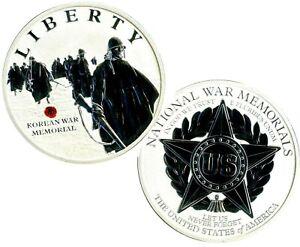 KOREAN WAR MEMORIAL COMMEMORATIVE COIN PROOF VALUE $89.95