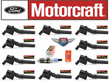 Set of 10 Motorcraft Ignition Coil DG508 + 10 Motorcraft Spark Plug SP493