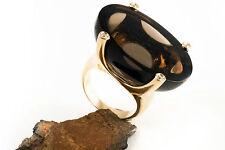 Schmuck Designer Rauchquarz & Brillant Ring 750 Rotgold 18 Karat Gold