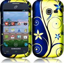 For Samsung Galaxy Discover S730G Rubberized HARD Case Phone Cover Royal Swirl