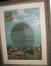 FERRIS WHEEL MIDWAY PLAISANCE WORLD'S COLUMBIAN EXPOSITION CHICAGO 1893 POSTER