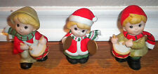 Set of 3 Homco Children Musicians Carolers Bisque Christmas Figurines
