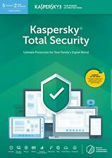 Kaspersky Total Security 2020 5 Devices 1 Year PC/Mac/Android Activation by Post