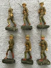 LOT Antique WWI Composition Paper Mache Toy Soldiers Militia Infantry Figurines