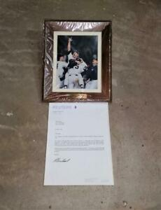 1998 Project Yankee New York Yankees Reuters Framed Photo with Letter NOS