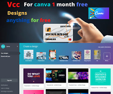 VIRTUAL CREDIT CARD ( VCC ) FOR CANVA FREE TRAIL VERIFICATION ✅ Design anything