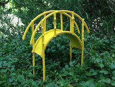 Miniature Dollhouse FAIRY GARDEN ~ Summer Yellow Metal Bridge ~ NEW