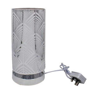 Bedside Touch Lamp - Brushed Chrome Cylinder Table Lamp/Touch Dimmer