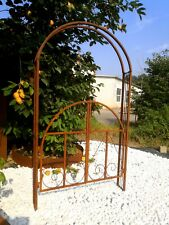 No Rost Rosenbogen Rosenhilfe Garten Rankhilfe 120*30*220cm Rost 031928-1