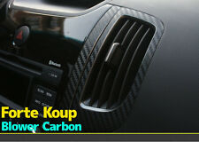 3D Black Carbon Air duct Decals Stickers for Kia 11-2013 Cerato / Forte - Koup