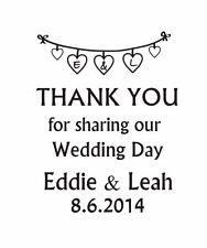 Sello de boda gracias, personalizado de boda Hágalo usted mismo