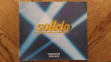 Catalogue Vintage Solido 1978 - 1979 Bon Etat.