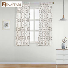 NAPEARL 1 Panel Short Kitchen Sheer Curtain Modern Simple Pastoral Tulle Drapes