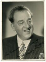 French Movie Star Lucien Baroux 1934 signed photograph