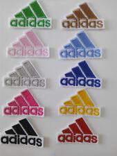 Parche bordado termoadhesivo estilo Adidas 4,5/3,5 cm adorno ropa personalizada
