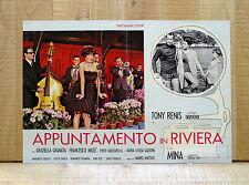 APPUNTAMENTO IN RIVIERA fotobusta poster Mina Tony Renis Cantanti Musica Y45