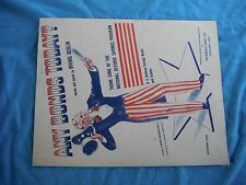 WWII home front sheet music Any Bonds Today?, Marshall Drug Co. Cleveland, Ohio