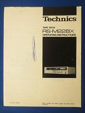 TECHNICS RS-M228X CASSETTE OWNER MANUAL ORIGINAL FACTORY ISSUE THE REAL THING