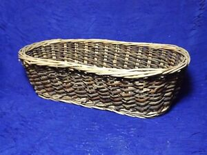 Wooden Woven Oval Basket