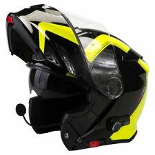 Viper RSV171 Bl + Klapphelm Sprechanlage Motorrad Helm Schwarz Gelb Groß