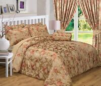 RICH GOLD BRONZE FLORAL JACQUARD EMBELLISHED LUXURY BEAUTIFUL GLAMOUR BEDDING