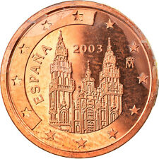 [#819684] Spanje, 2 Euro Cent, 2003, Madrid, FDC, Copper Plated Steel, KM:1041