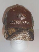 Mossy Oak Camo Outdoor Cap Hat Men Womens Snapback Brown OSFM New