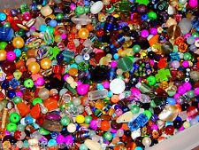 NEW 1/2 Lb  MULTI-COLOR 6-15mm MIXED LOOSE BEADS LOT Natural, GemStone GLASS