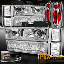 1994-1998 GMC Sierra Yukon [10PC] Chrome Headlight + Corner Signals + Tail Light