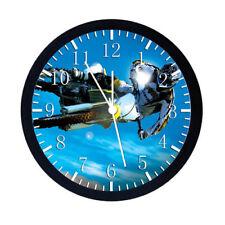 Motorcross Motor Cross Black Frame Wall Clock W73