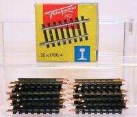 "Box of 20 Fleischmann HO Scale Brass 2 1/4"" Straight Conventional Tracks 1700/4"