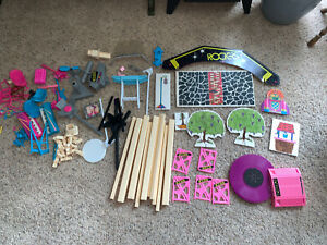 Vintage 1980s Barbie Rockers Stage And Music Lot By Mattel