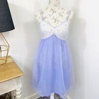Vintage 60s Womens Babydoll Night Dress Lingerie Lilac Purple Nylon Size 12 AU