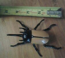 Vintage Tomy Ugh-A-Bug Wind-Up Toy Horned Beetle Scary Moving Robotic Figure