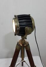 Antique Finish Mini Small Desk Table Lamp Search light Vintage Spot Light Tripod