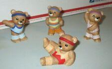 "4 Piece Homco ""Aerobic / Exercising Bears"" Figurines - #1448"