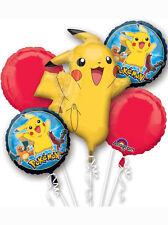 Pokemon Pikachu Foil Balloon Bouquet Display Ideal Birthday Party Decoration