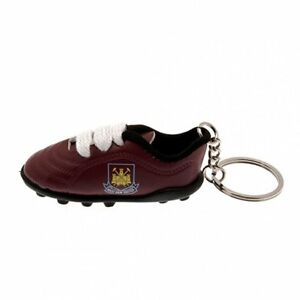 WEST HAM UNITED FC OFFICIAL FOOTBALL GIFT BOOT KEYRING