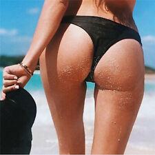 Womens Brazilian Cheeky Bikini Bottom Thong Bathing Beach Swimsuit Swimwear HS