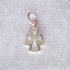Sterling Silver Guardian Angel Open Charm/Pendant 15mm 925