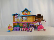 Disney Doc Mcstuffinsville Hospital Playset + Soft Doc Helicopter + Friends +