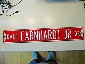 """Dale Earnhardt Jr Drive Metal Street Sign - 36""""L x 6""""W Heavy Metal"""