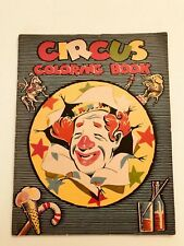 VINTAGE 1950 UNUSED 3 RING CIRCUS SAALFIELD COLOR COLORING BOOK