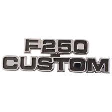 "1977-79 FORD TRUCK F-250 ""CUSTOM"" NAME PLATE-COWL SIDE              D7TZ-16720-P"