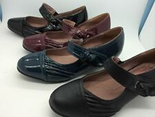 Ladies Shoes Step On Air Ariat Black Red Navy Heel Mary Jane Size 6-10