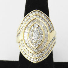 NYJEWEL 14k Solid Gold Brand New Huge 5ct Diamond cocktail Ring